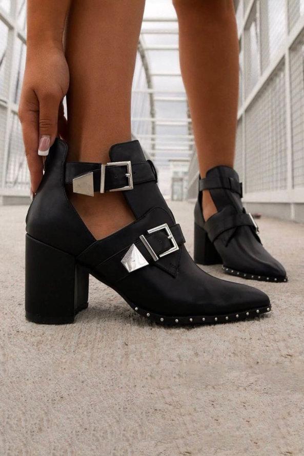 ΜΠΟΤΑΚΙΑ Cowgirl ankle boots μαύρο