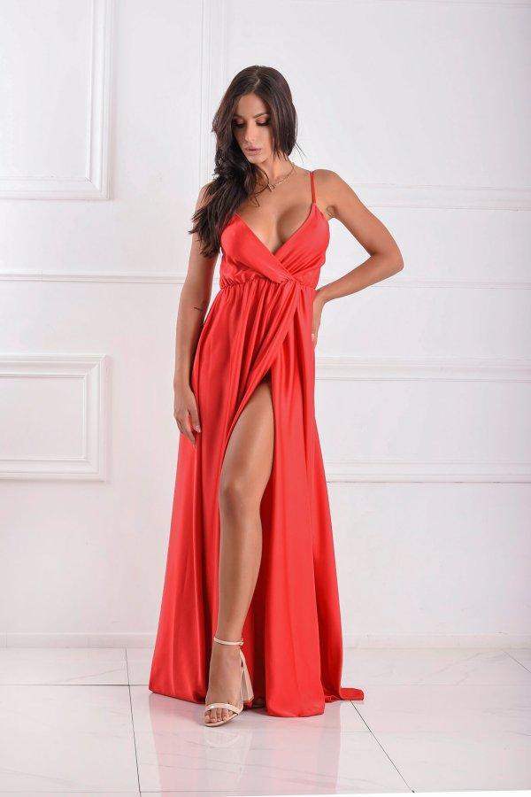 ΜΑΞΙ ΦΟΡΕΜΑΤΑ Juan φόρεμα κόκκινο