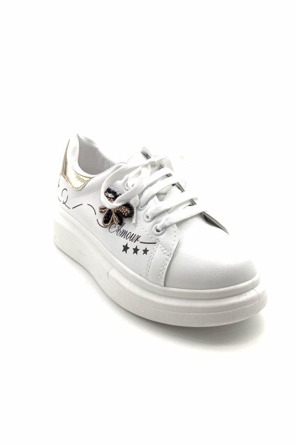 ΑΘΛΗΤΙΚΑ Honey B sneakers χρυσό