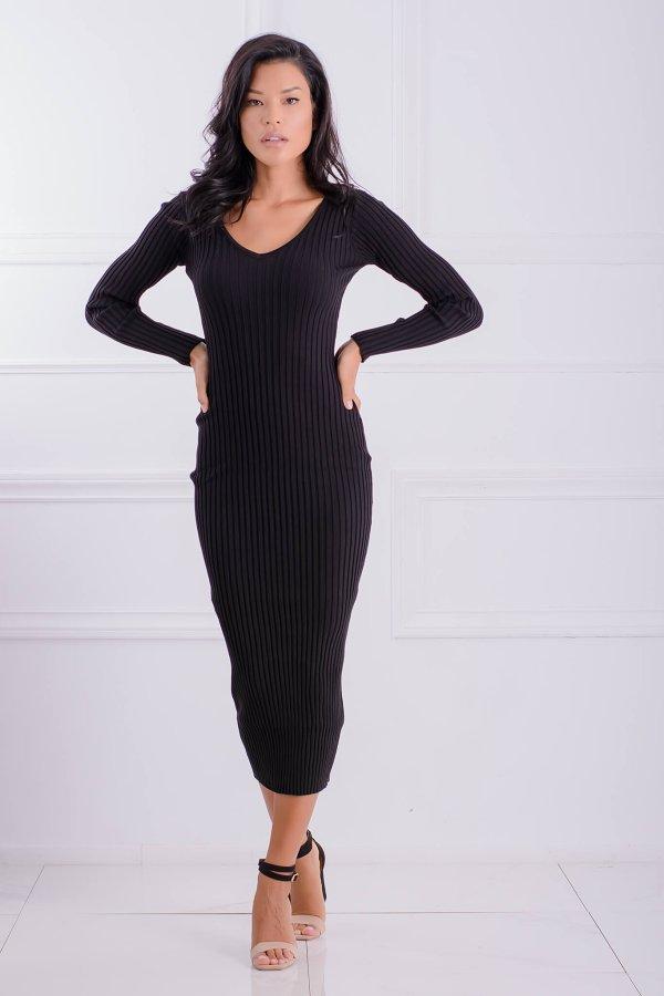 ΜΙΝΤΙ ΦΟΡΕΜΑΤΑ Glimpse φόρεμα μαύρο