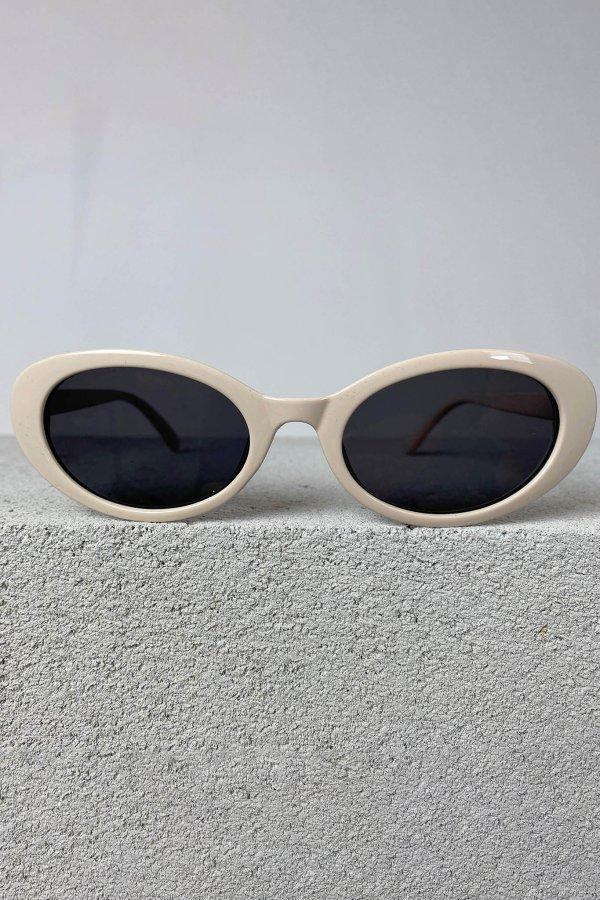 ΑΞΕΣΟΥΑΡ SALES Narrow γυαλιά ηλίου μπεζ σκελετός μαύρος φακός