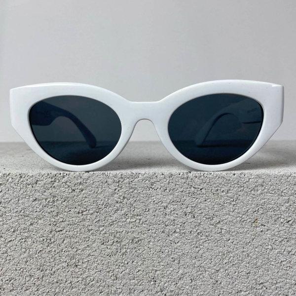 ΓΥΑΛΙΑ ΗΛΙΟΥ Haircut γυαλιά ηλίου λευκός σκελετός μαύρος φακός