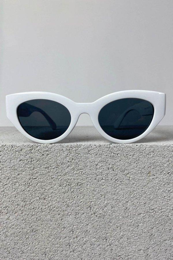 ΑΞΕΣΟΥΑΡ SALES Haircut γυαλιά ηλίου λευκός σκελετός μαύρος φακός