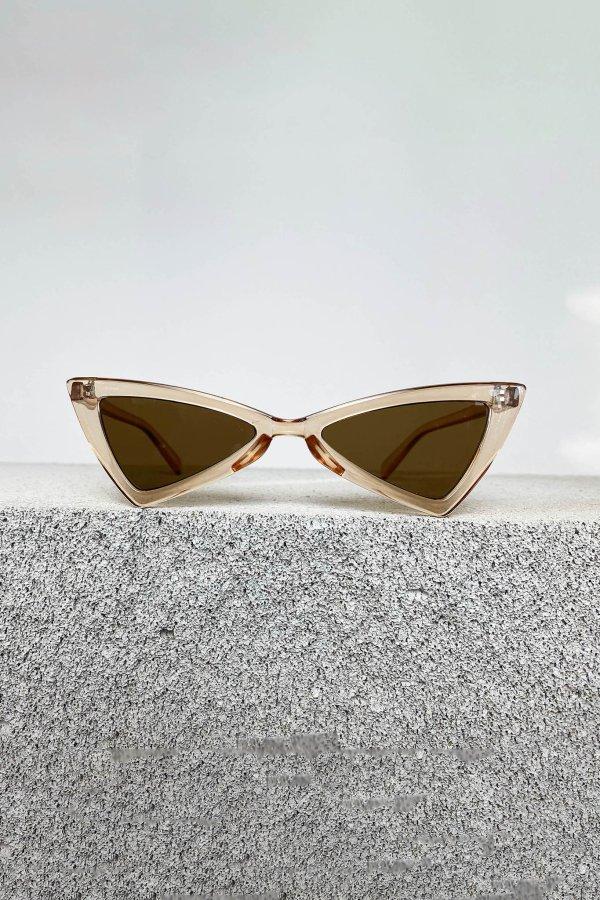 ΑΞΕΣΟΥΑΡ Heart γυαλιά ηλίου χρυσός σκελετός καφέ φακός