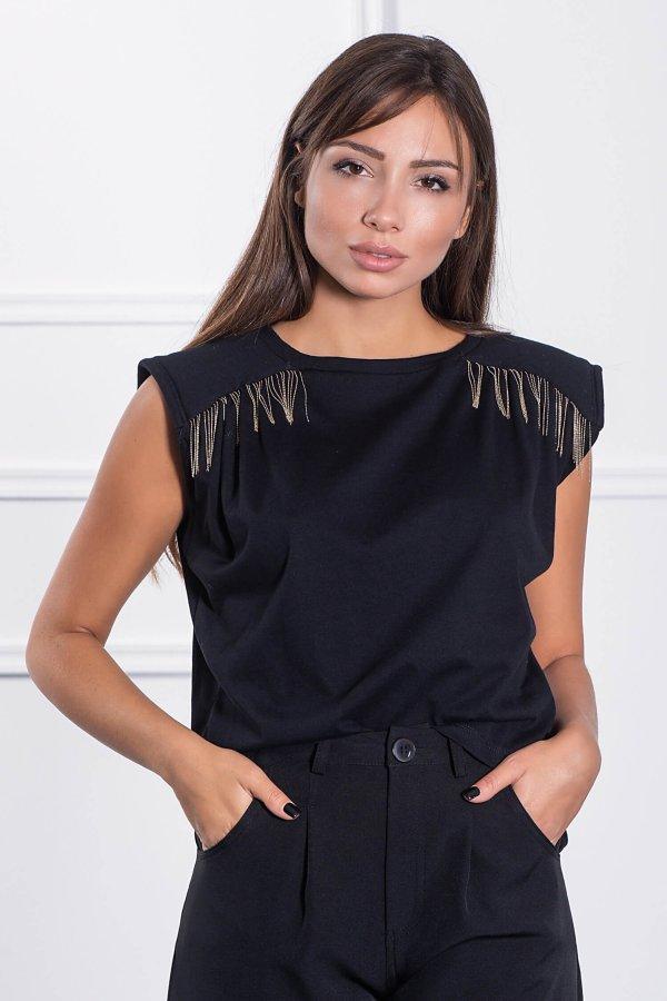 TSHIRTS Tasha t-shirt μαύρο