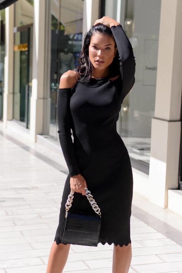 ΜΙΝΤΙ ΦΟΡΕΜΑΤΑ Village φόρεμα μαύρο