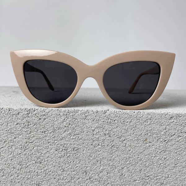 ΓΥΑΛΙΑ ΗΛΙΟΥ Leader γυαλιά ηλίου μπεζ σκελετός μαύρος φακός