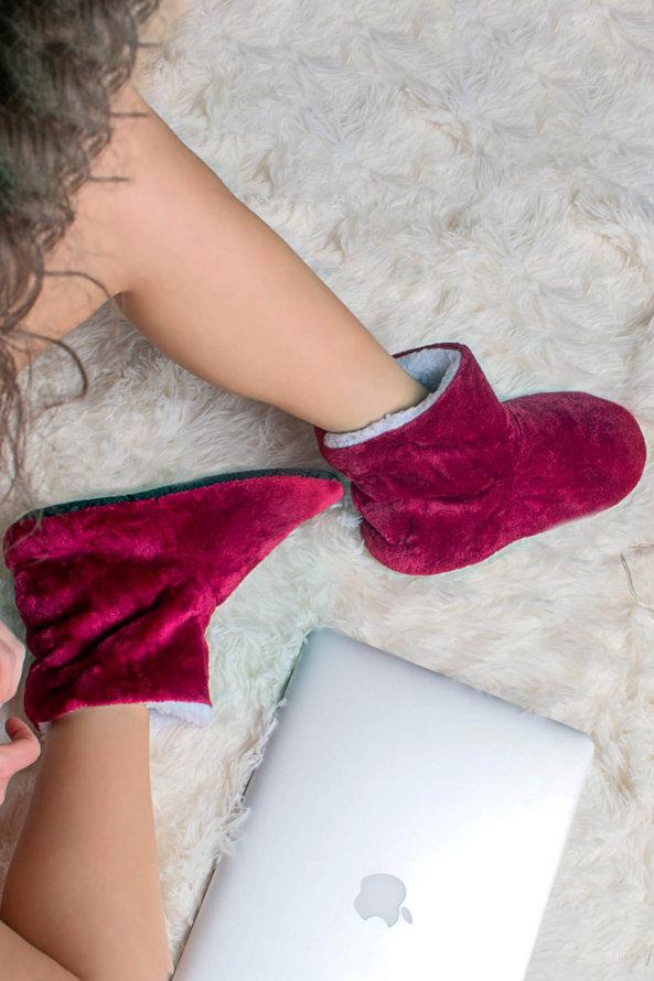 Slippers Sally slippers μπορντό