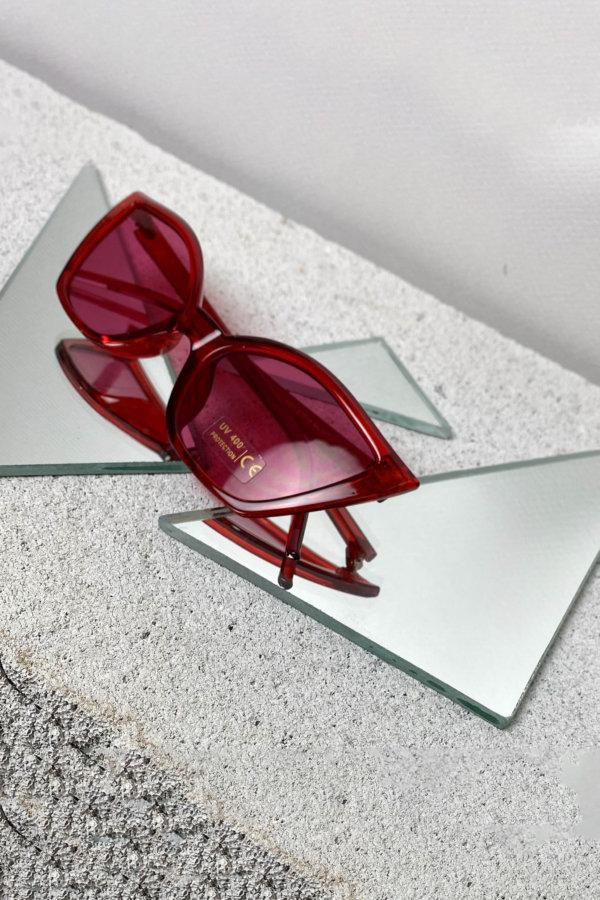 ΑΞΕΣΟΥΑΡ Article γυαλιά ηλίου κόκκινος σκελετός ροζ φακός