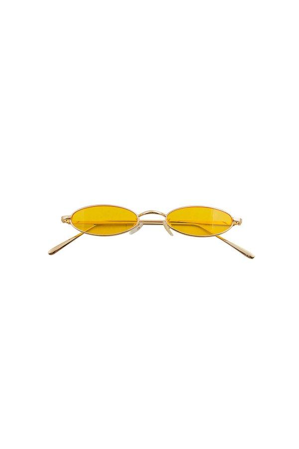 ΑΞΕΣΟΥΑΡ Media γυαλιά ηλίου χρυσός σκελετός κίτρινος φακός