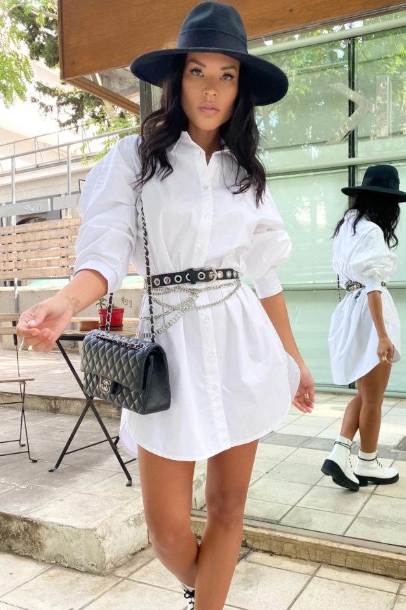 ΤΟΠ Sloppy πουκάμισο λευκό