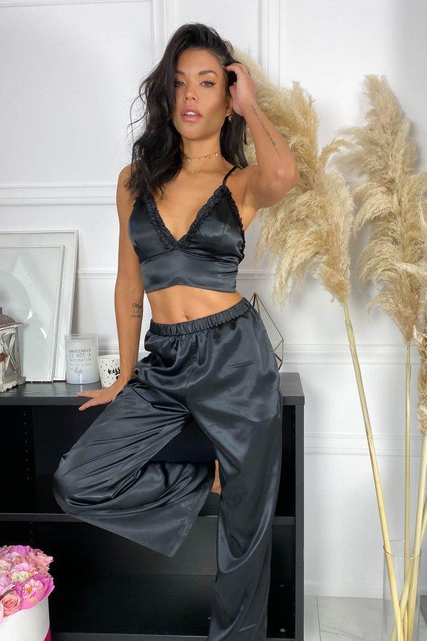 LINGERIE Rush σετ homewear μαύρο
