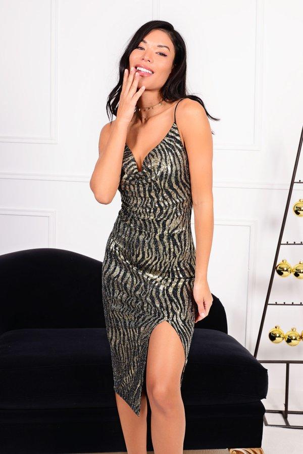 ΒΡΑΔΙΝΑ ΦΟΡΕΜΑΤΑ Display φόρεμα χρυσό
