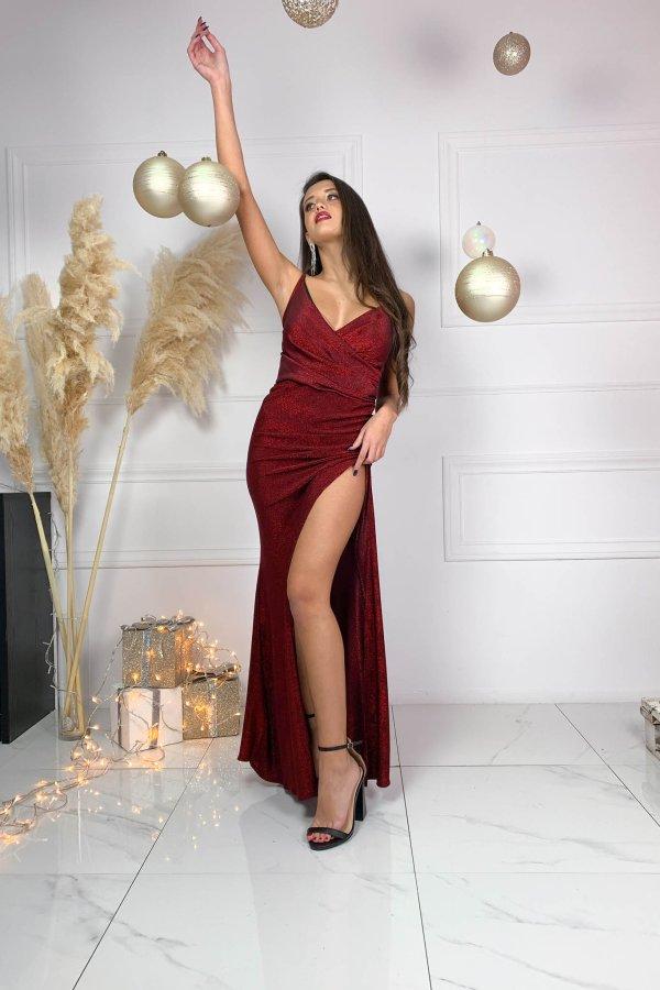 ΒΡΑΔΙΝΑ ΦΟΡΕΜΑΤΑ Persuade φόρεμα μπορντό