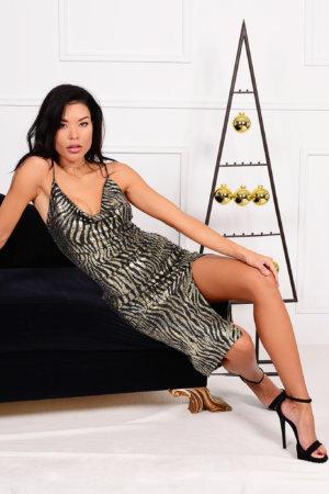 ΜΙΝΤΙ ΦΟΡΕΜΑΤΑ Display φόρεμα χρυσό