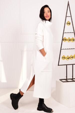 ΜΑΞΙ ΦΟΡΕΜΑΤΑ Burst φόρεμα off white
