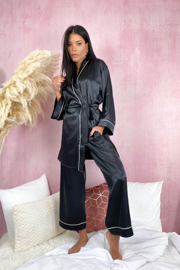 HOMEWEAR Cozy παντελόνα homewear μαύρο