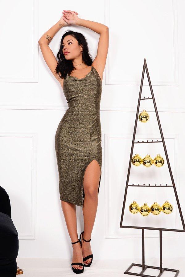 ΜΙΝΤΙ ΦΟΡΕΜΑΤΑ Devote φόρεμα χρυσό