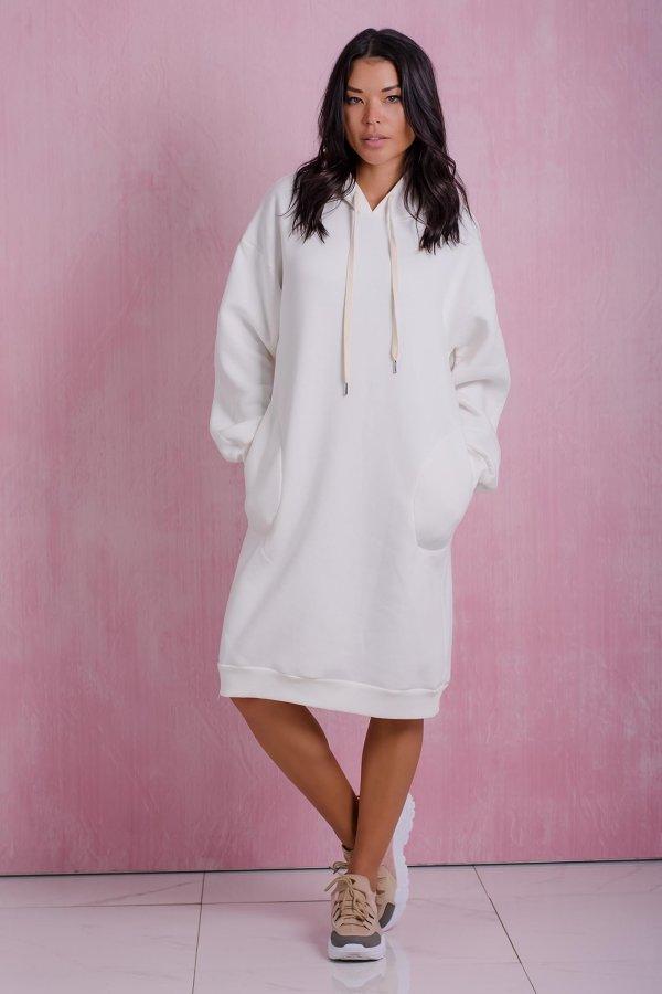 ΜΙΝΤΙ ΦΟΡΕΜΑΤΑ Tread φόρεμα off white