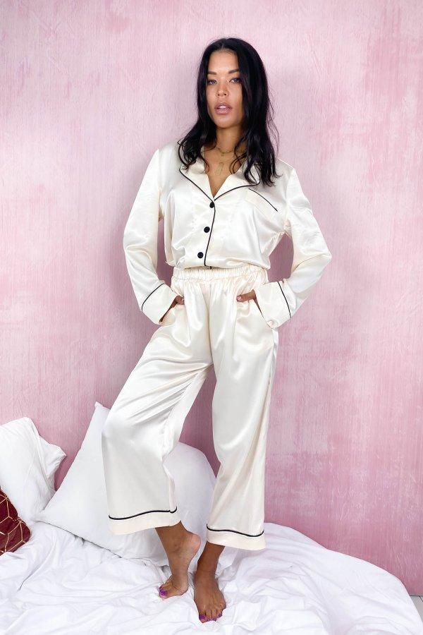 HOMEWEAR Cozy πουκάμισο homewear off white