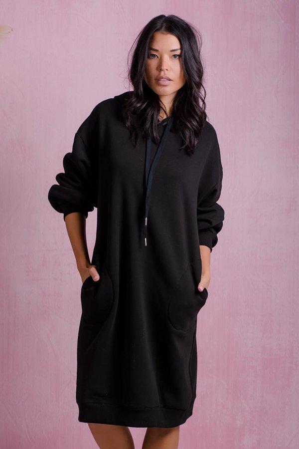 ΜΙΝΤΙ ΦΟΡΕΜΑΤΑ Tread φόρεμα μαύρο