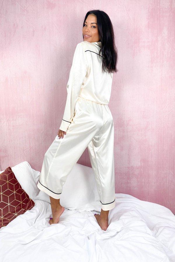 HOMEWEAR Cozy παντελόνα homewear off white
