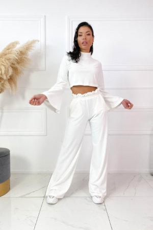 ΠΑΝΤΕΛΟΝΙΑ Glossy παντελόνι λευκό