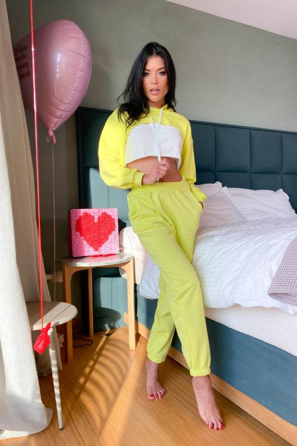 ΠΑΝΤΕΛΟΝΙΑ Motivation παντελόνι κίτρινο φλούο