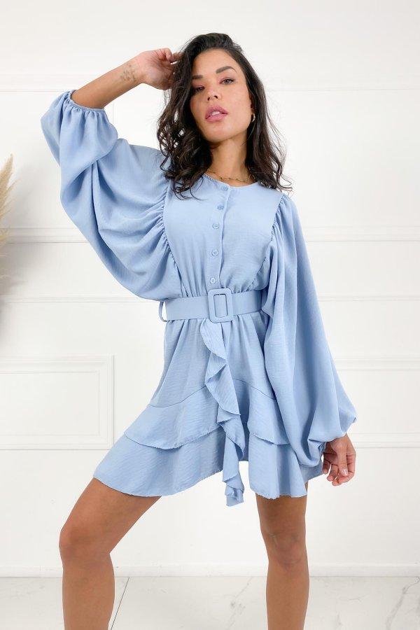 CASUAL ΦΟΡΕΜΑΤΑ Dip φόρεμα σιελ