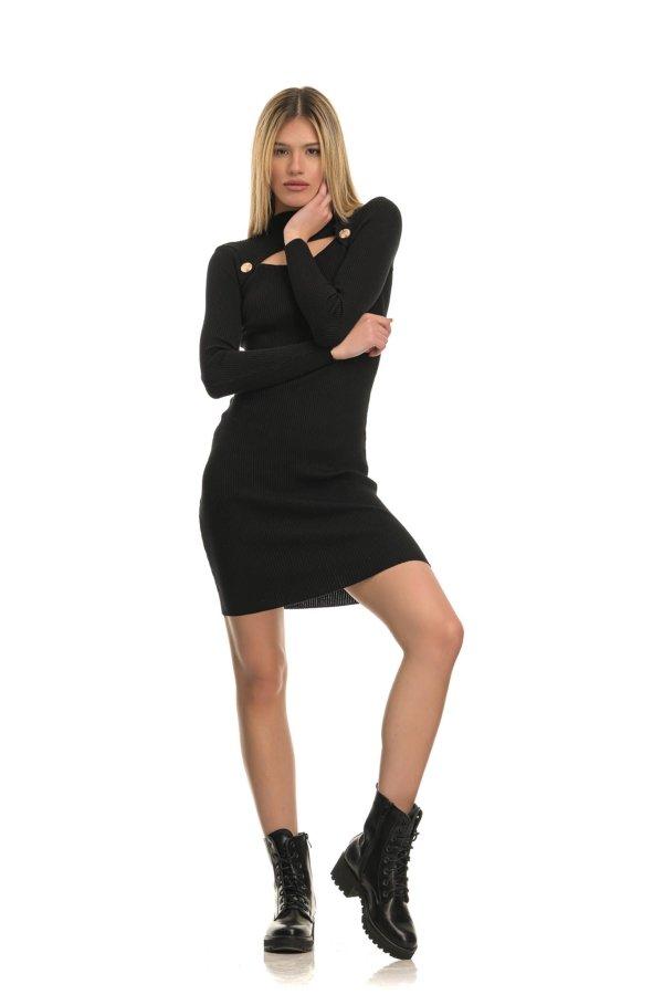 ΠΛΕΚΤΑ Urge φόρεμα μαύρο