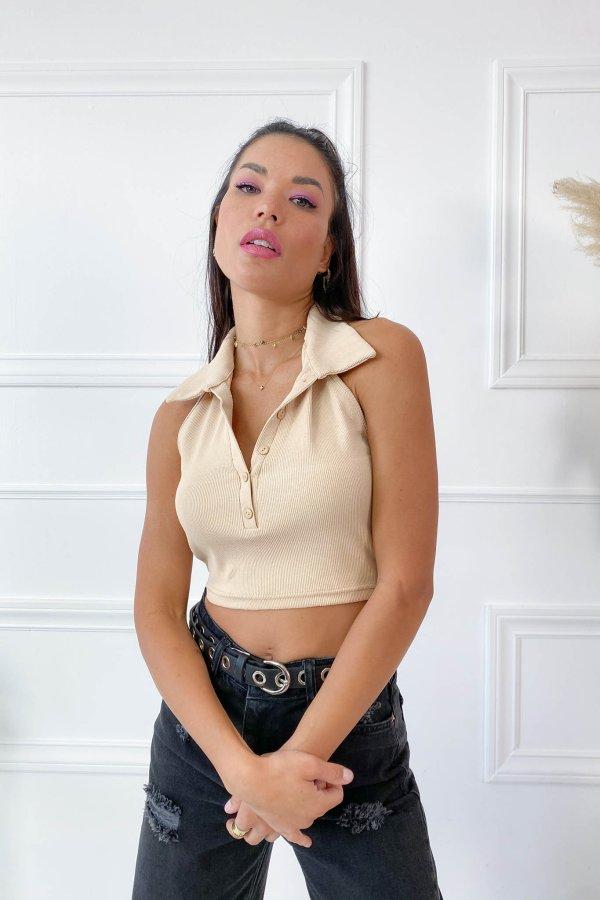ΜΠΛΟΥΖΕΣ Judi μπλούζα μπεζ
