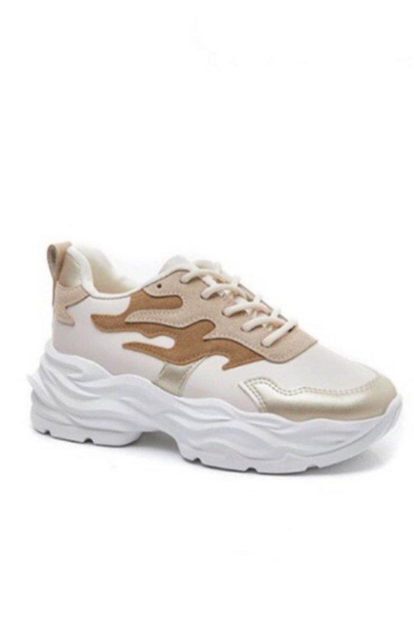 ΑΘΛΗΤΙΚΑ Cob sneakers μπεζ