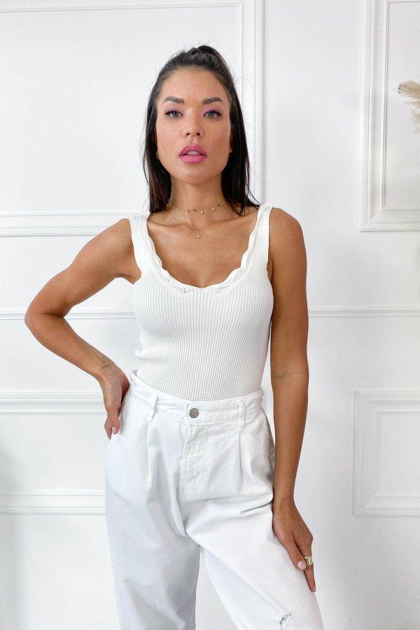 ΜΠΛΟΥΖΕΣ Gena μπλούζα λευκό
