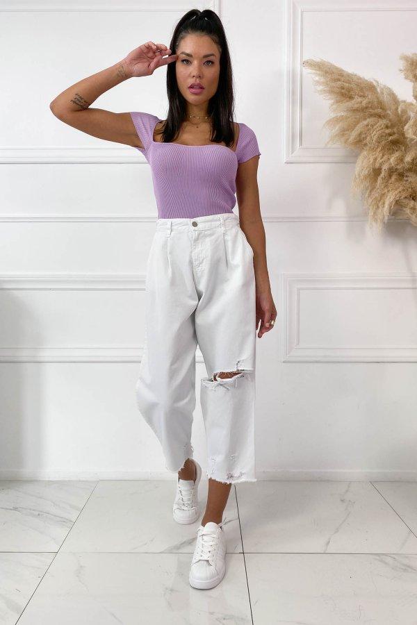 TZIN ΡΟΥΧΑ Cate τζιν παντελόνι λευκό
