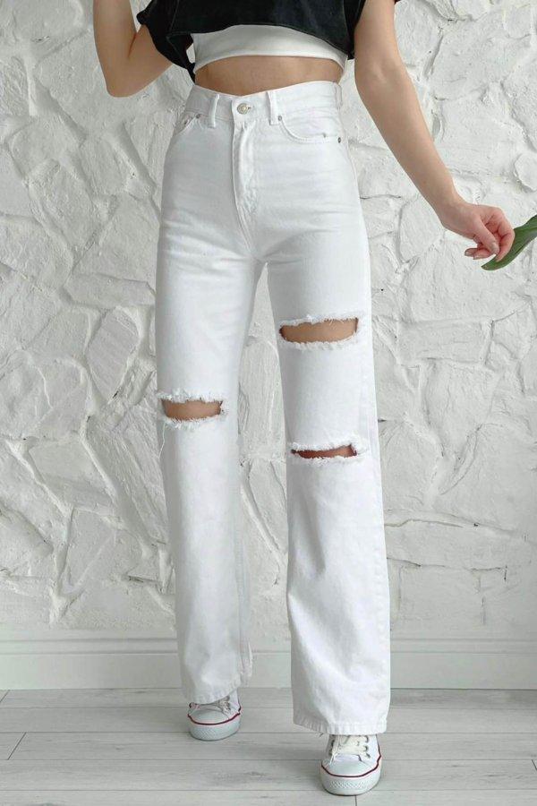 TZIN ΡΟΥΧΑ Artificial τζιν παντελόνι λευκό
