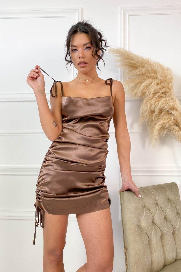 Asylum φόρεμα καφέ