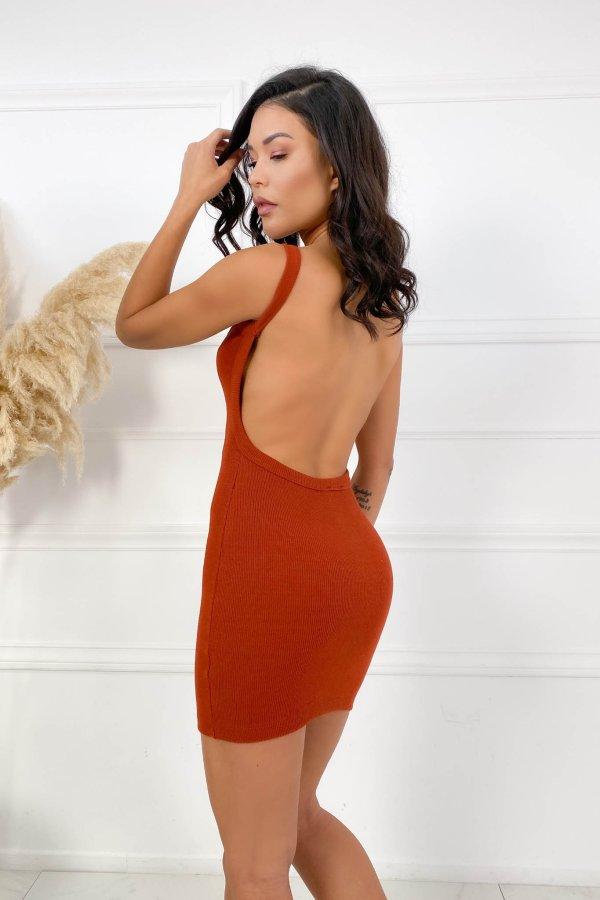 CASUAL ΦΟΡΕΜΑΤΑ Forbid φόρεμα κεραμιδί