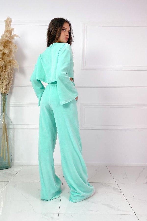 VELVET LOVERS Glossy παντελόνι βεραμάν