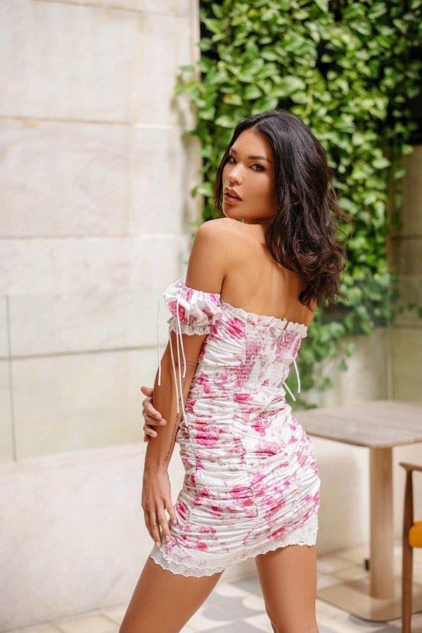 Anuj φόρεμα ροζ