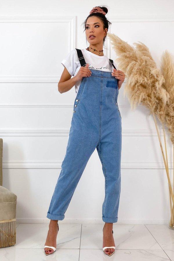 TZIN ΡΟΥΧΑ Belt ολόσωμη φόρμα μπλε