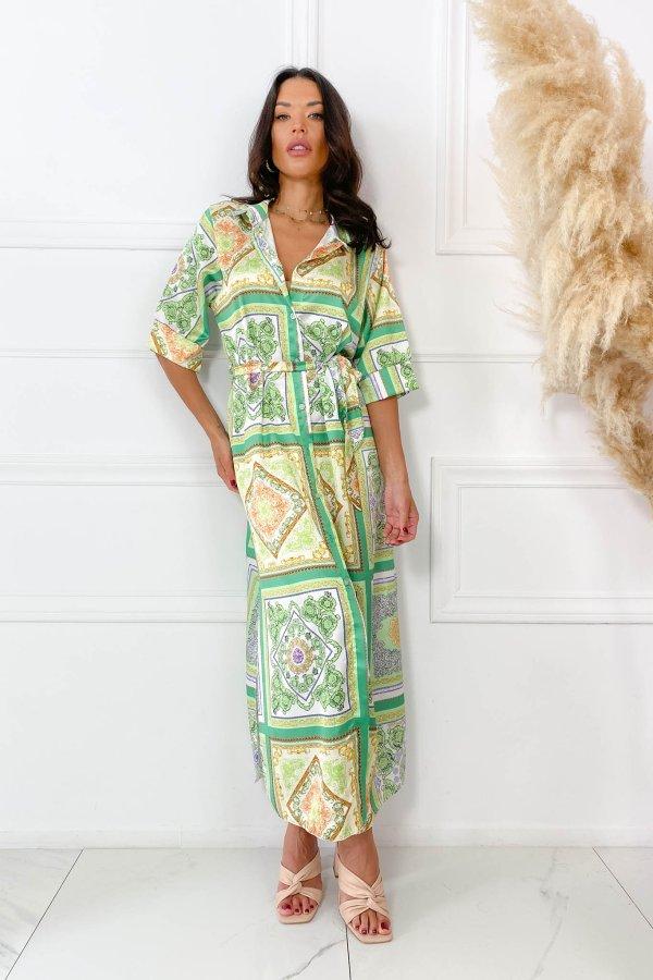 ΜΑΞΙ ΦΟΡΕΜΑΤΑ Increase φόρεμα πράσινο