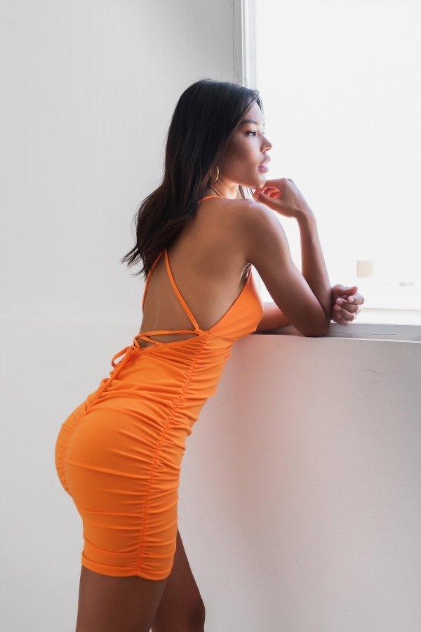ΦΟΡΕΜΑΤΑ ΠΡΟΣΦΟΡΕΣ Milla φόρεμα πορτοκαλί