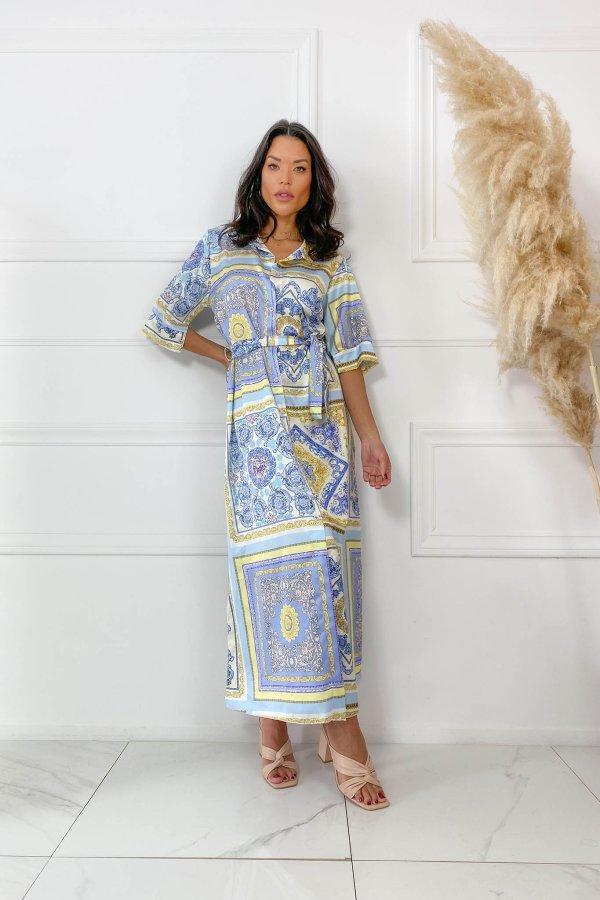 ΜΑΞΙ ΦΟΡΕΜΑΤΑ Increase φόρεμα μπλε