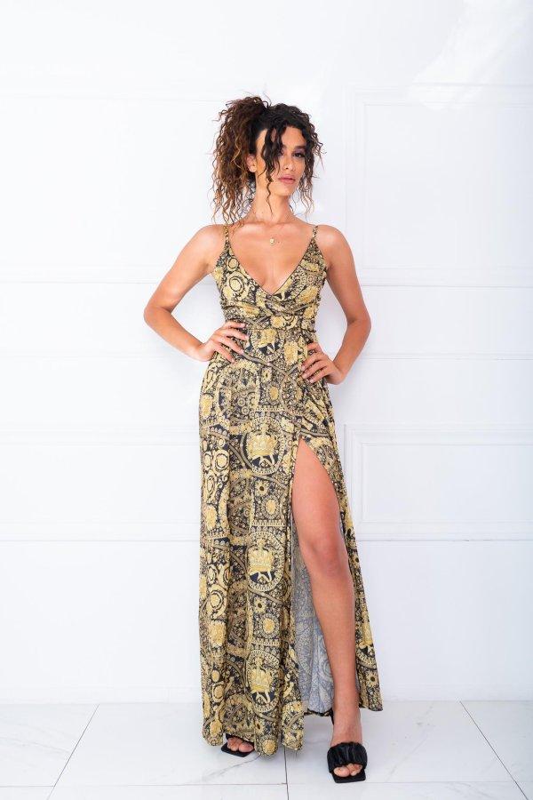 Pour φόρεμα χρυσό