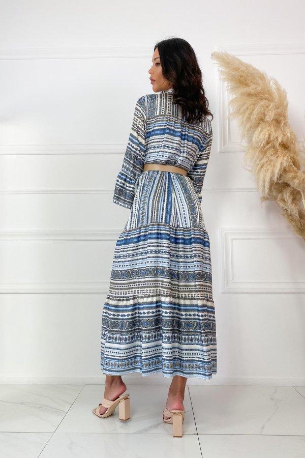 ΜΑΞΙ ΦΟΡΕΜΑΤΑ Notion φόρεμα μπλε
