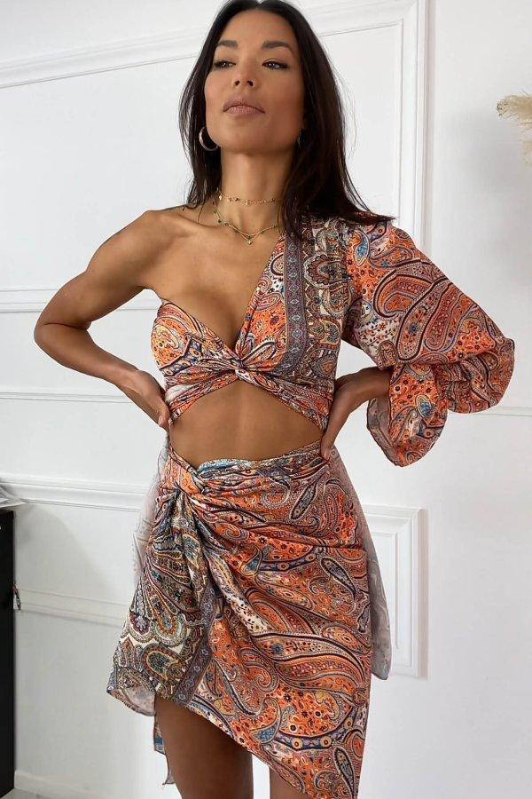 ΦΟΥΣΤΕΣ Crouz φούστα πορτοκαλί