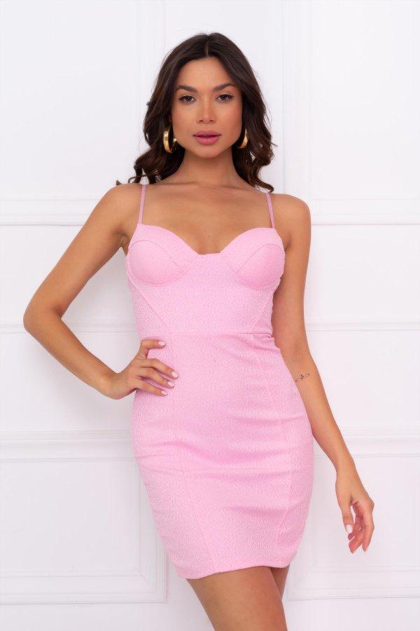 ΦΛΟΡΑΛ Elbe φόρεμα ροζ