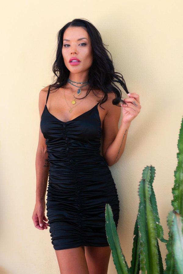 CASUAL ΦΟΡΕΜΑΤΑ Perdita φόρεμα μαύρο