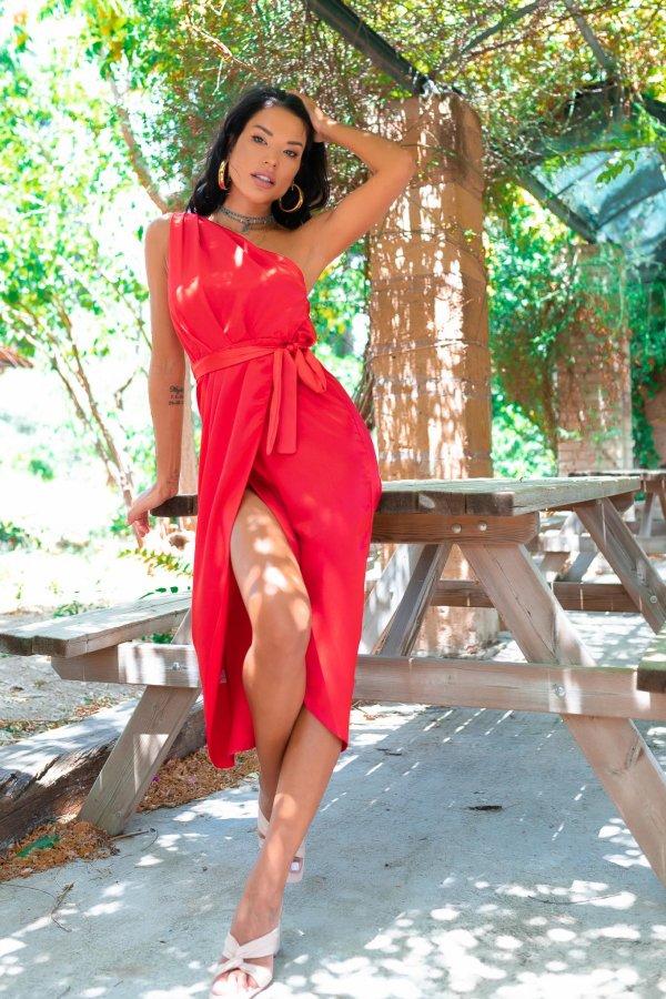 ΜΑΞΙ ΦΟΡΕΜΑΤΑ Borzoi φόρεμα κόκκινο
