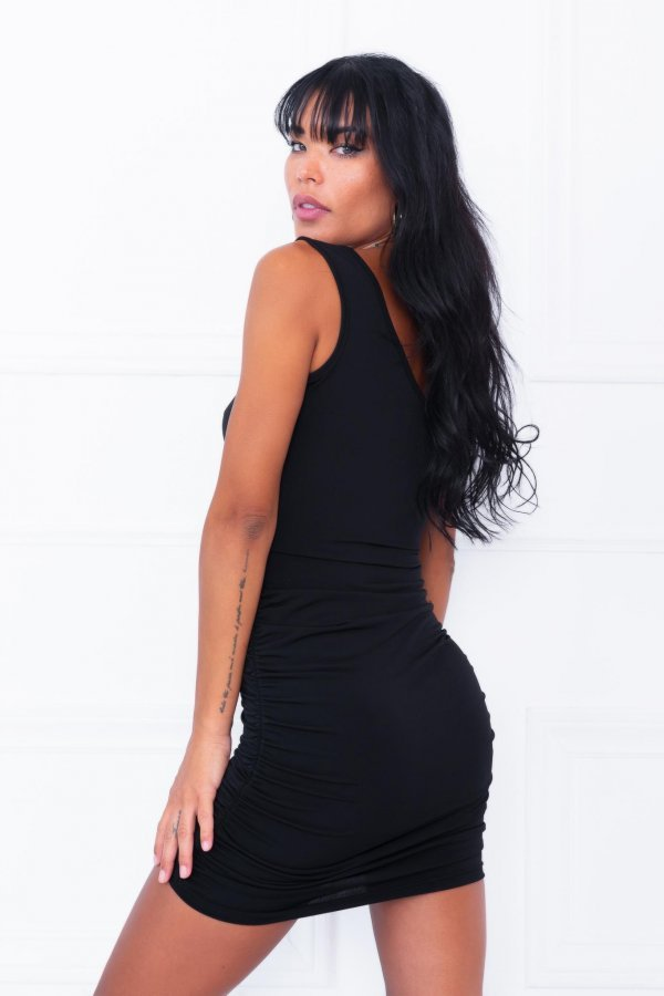 Quince φόρεμα μαύρο